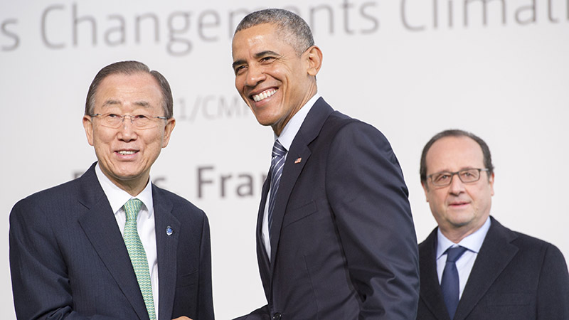 Strong support from Obama and China's Xi means the Paris climate deal will likely come into force well before 2020 (Pic: UN Photos)