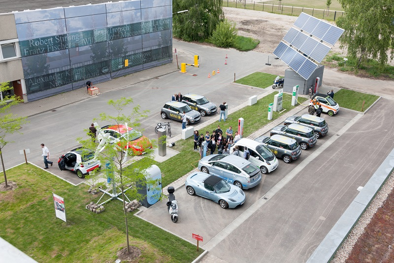 Renewable-powered electric vehicles on the Innoz campus (Pic: www.kai-abresch.de)