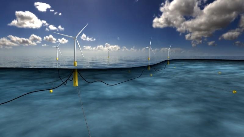 Artist impression of floating windfarm (Pic: Statoil ASA)