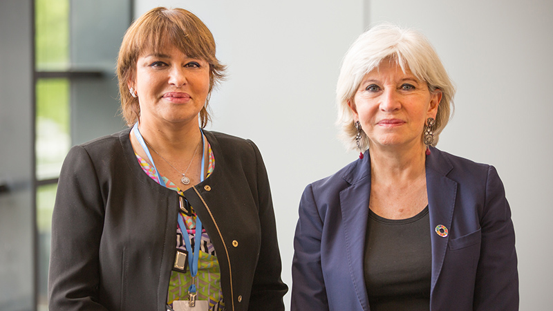 Moroccan minister Hakima El-Haite and France climate ambassador Laurence Tubiana are the UN's 2016 'climate champions' (Pic: UNFCCC/Flickr)
