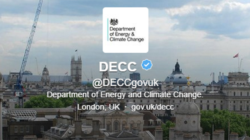 DECC no more - climate change has been erased from the title of a new department
