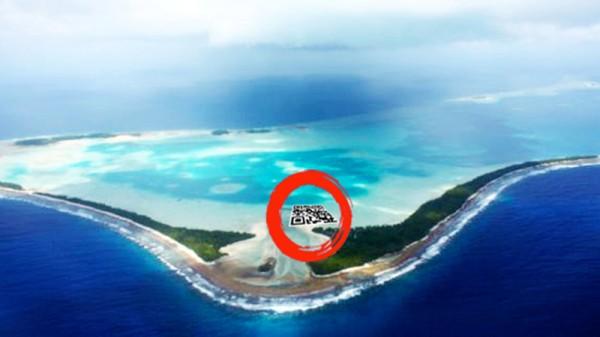 Climate art: Tuvalu plan for giant mangrove QR code