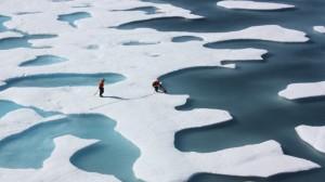 Graphic: Spiralising Arctic sea ice records