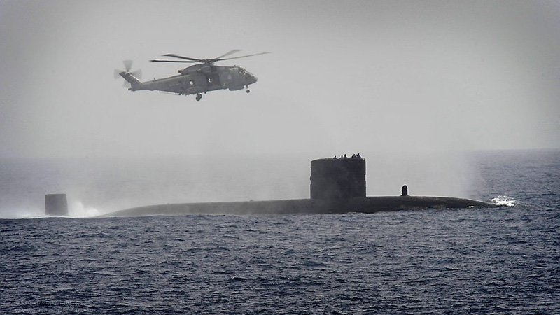 Royal Navy submarine HMS Turbulent, one of the UK's fleet of nuclear-powered subs (Pic: Royal Navy/Flickr)