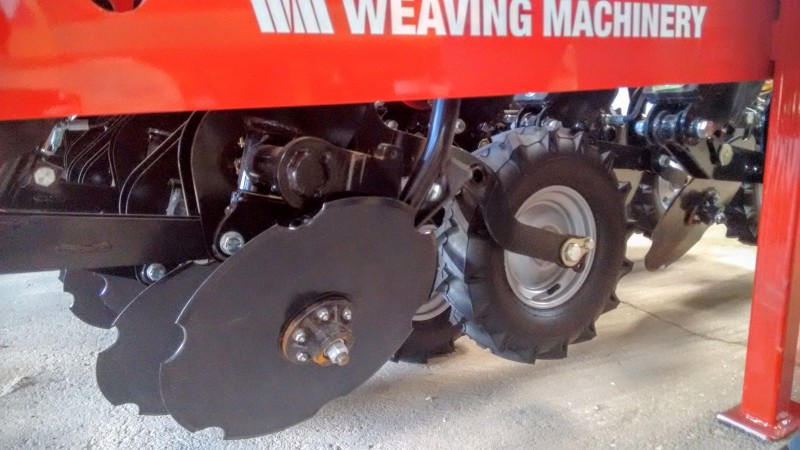 A no-till seed drill: slanted discs cut through the soil (Pic: Megan Darby)