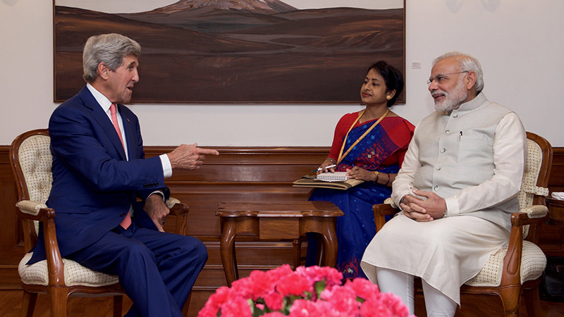 Kerry and India PM Narendra Modi in talks on 30 August (Pic: State Department/Flickr)