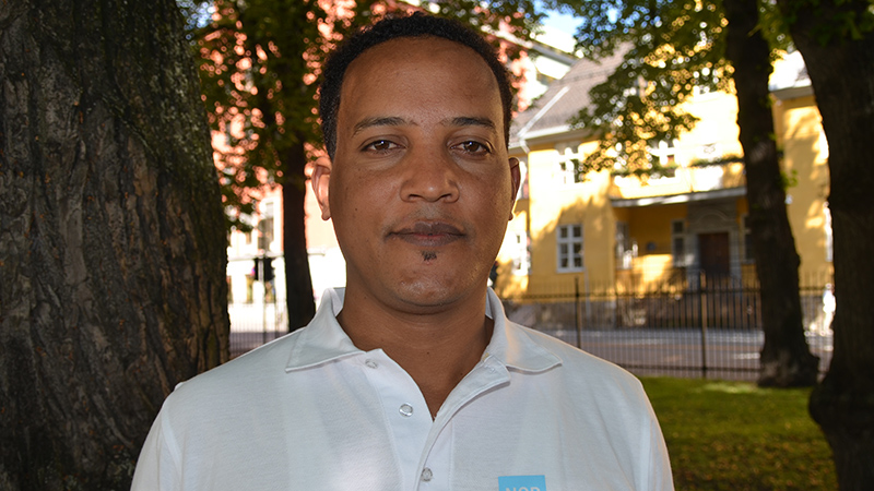 Yohannes Hagos Subagadis, a hydrologist and risk reduction expert working for the Norwegian Refugee Council (Pic: NORCAP Ida Sem Fossvik)
