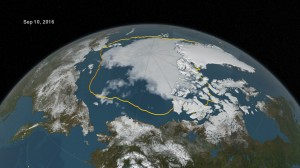 Arctic sea ice falls to second lowest extent, despite cool summer