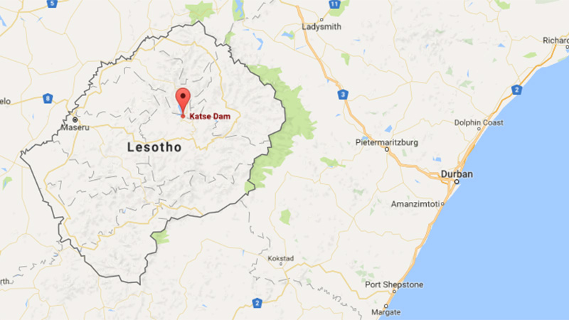 Located in central Lesotho, the Katse dam was built in 1996 (Pic: Google)