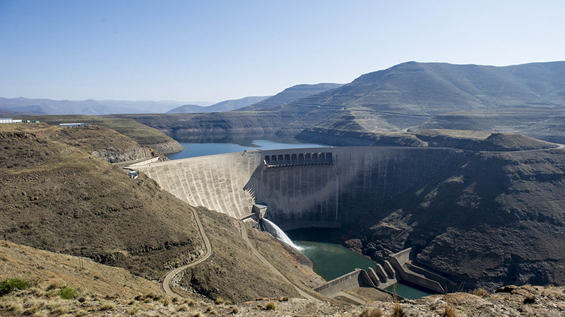 The Katse Dam and the Lesotho Highlands water project, which supplies water to South Africa (Pic: Delwyn Verasamy)