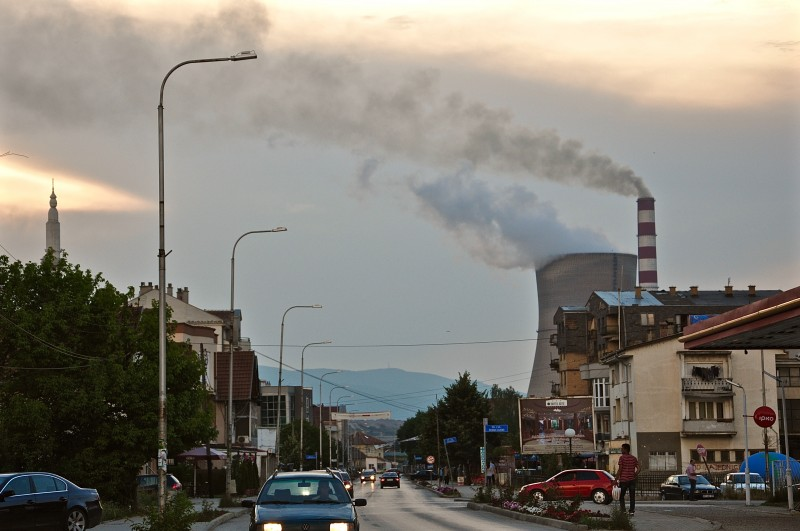 Obilić is the closest town to Hade and the location of Kosovo's two old coal power stations. Air pollution here is among the worst in Europe. Photo: Karl Mathiesen