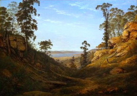 John Glover's early colonial work shows two hunters walking through open woodland just a few hundred metres from modern-day house sites. The forest here is now so thick the view is entirely obscured. (Photo: Karl Mathiesen)