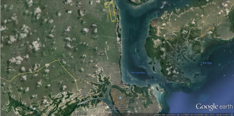 The proposed Lamu coal plant site (Source: Environmental Impact Assessment)