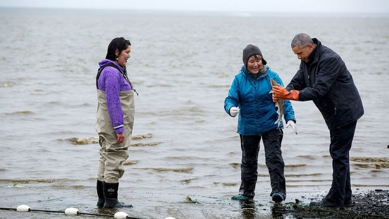 Salmon fishing in Alaska, where President Obama highlighted the impacts of climate change (Official White House Photo by Pete Souza)