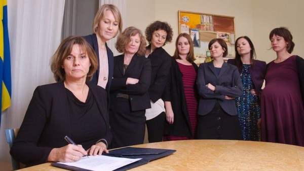 The making of Sweden's climate law - and that photo