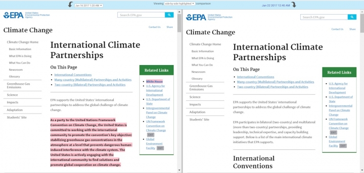 Before-and-after screenshots (Credit: Climate Central)
