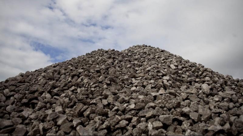 A coal stockpile, perhaps destined for India (Photo: Oupa Nkosi)