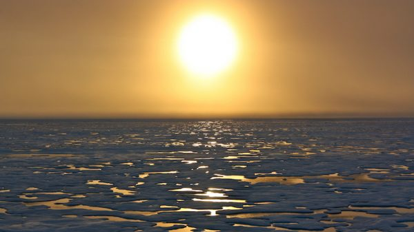 Polar sea ice hits record new low