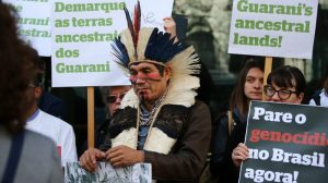 Brazilian indigenous leader appeals for solidarity against land grabs