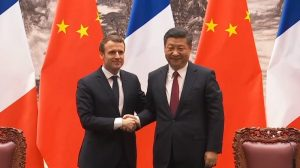 "Macron urges Chinese people to ""make our planet great again"" - in Mandarin"