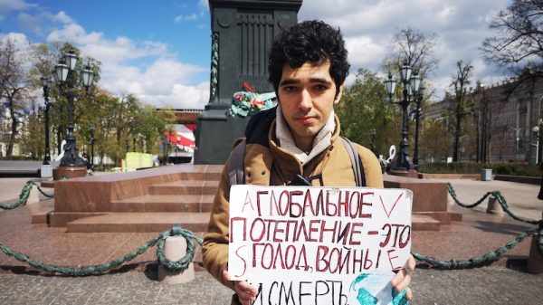 Until Russia allows us to rise together, I will strike for the climate alone