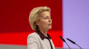 Von der Leyen offers 55% CO2 cuts by 2030 in bid for EU top job