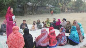 Climate-displaced people in Bangladesh raise their voices for support