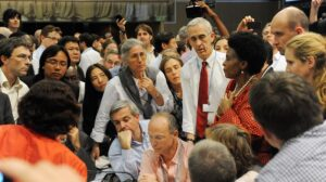 Once a vital feature of climate talks, has the huddle had its day?